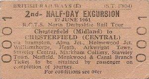 1961 Rail tour