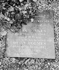 Colin Holmes memorial
