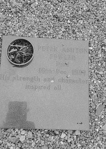 Peter Fowler memorial