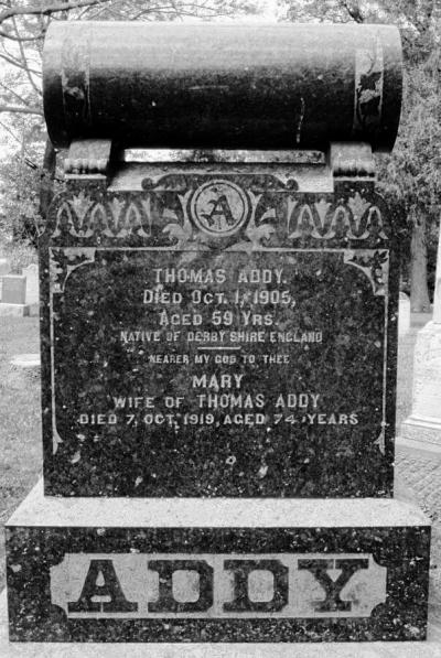 Thomas Addy headstone