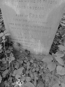 Frank Nicholls headstone