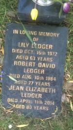 Ledger - Robert David C1907-1984
